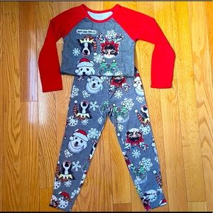 Justices Kids Holiday Edition Pajamas set size 6/7